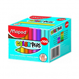 Мел цветной Maped, 100 шт.