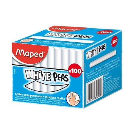 Мел белый Maped, 100 шт.