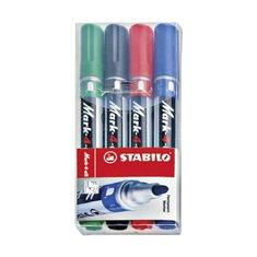 Набор маркеров перманентных Stabilo 1-4 мм., 4 шт.