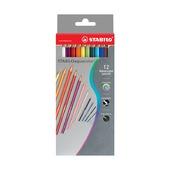 Набор цветных карандашей Stabilo Aquacolor, 12 шт.
