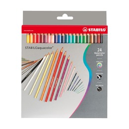 Набор цветных карандашей Stabilo Aquacolor, 24 шт.