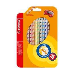 Набор цветных карандашей Stabilo Easycolors, 12 шт. с точилкой
