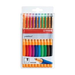 Набор гелевых ручку Stabilo Point Visco, 10 шт.