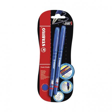 Ручка шариковая Stabilo Exam Grade 588, 2 шт., синие