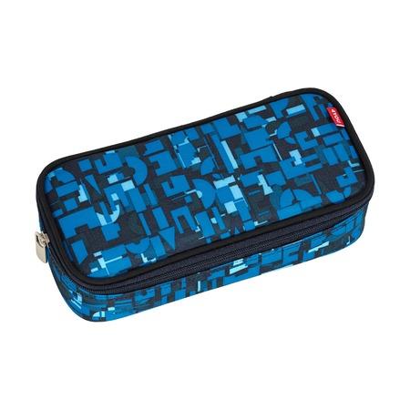 Пенал 4you Jampack Геометрический синий
