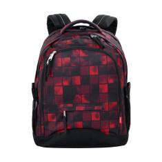 Рюкзак 4you Compact Квадраты красные-чёрные